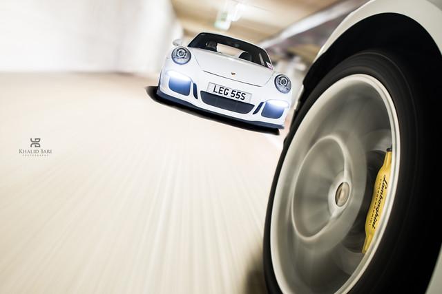 Porsche 991 911 GT3 chasing a Lamborghini Huracan