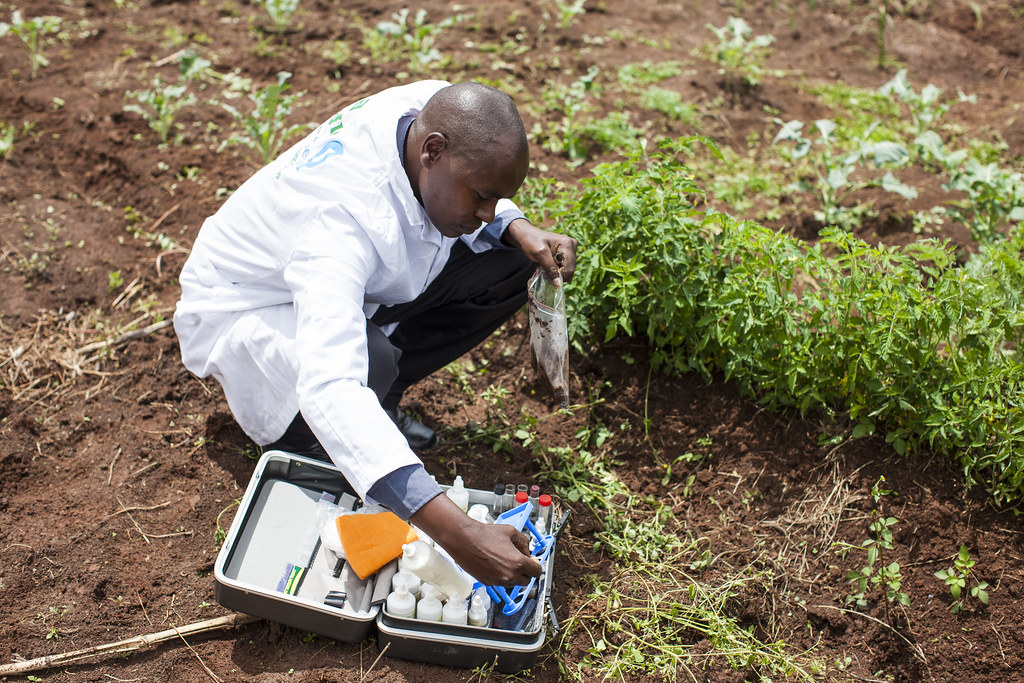 Quest Agriculture: A technician prepares to test soil samp… | Flickr