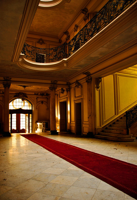 Golden light in the hall