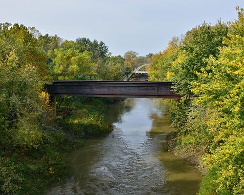 bridge trees usa water river nikon ks kansas osawatomie railroadtressle d7100 maraisdescygnesriver oldkcroad