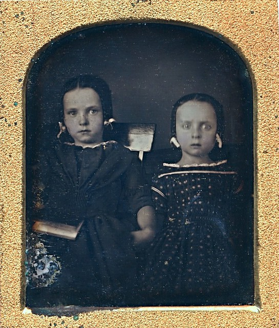 Panic in the Photo Gallery, 1/6th-Plate Daguerreotype, Circa 1848