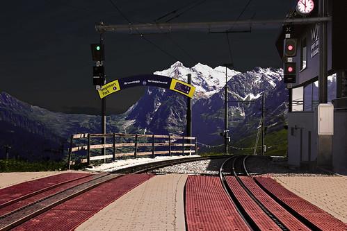 Swiss Train Station