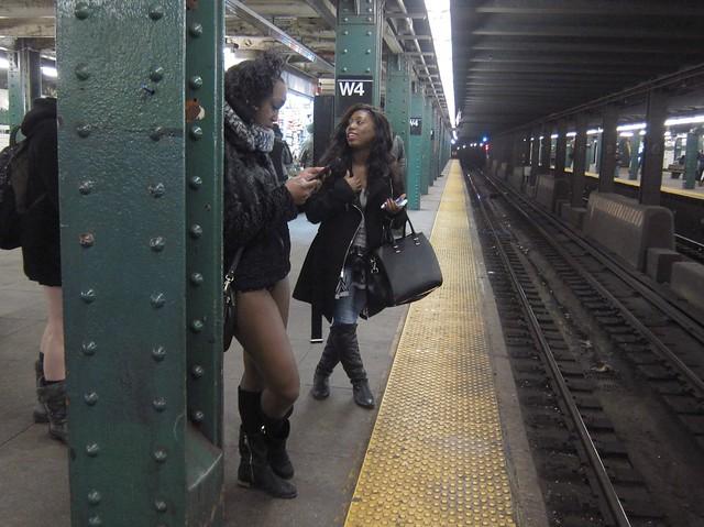 Improv Everywhere No Pants Subway Ride 2015: West 4th Street