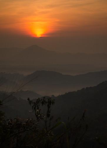 travel orange sun mist mountains color colour art beautiful leaves misty sunrise photography photo interesting nikon image hill layer srilanka rise uva elegance asiasociety badulla d5100