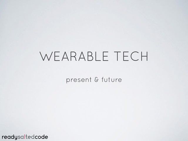 simple wearables