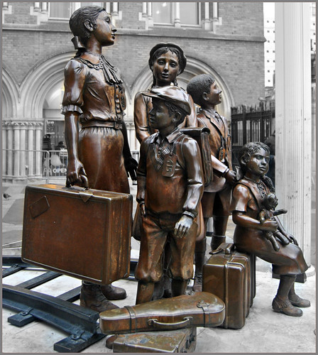 """Children of the Kindertransport"" @ Hope Square, Liverpool Street Station, London ( 2 Views ) 