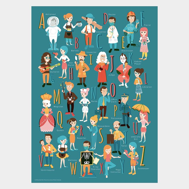 Say hello to the ABC Occupations Print, specially designed…   Flickr