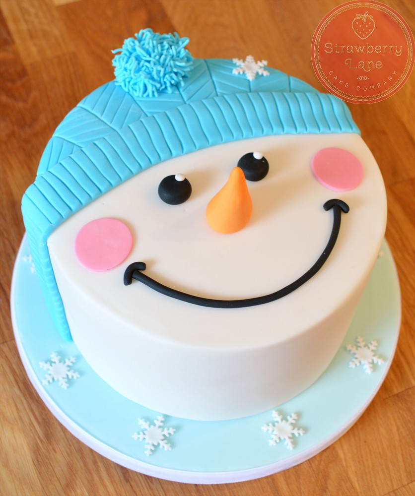 Snowman Cake   There are lots of this style cake around ...