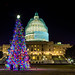 The United States Capitol Building Christmas Tree 2014 by Anthony Quintano