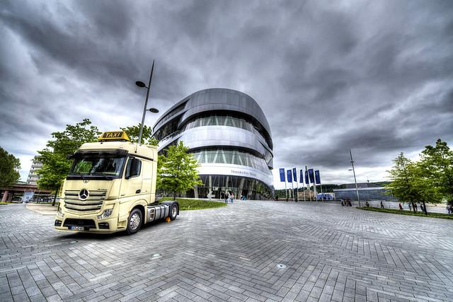Mercedes Museum entry in Stuttgart - Germany
