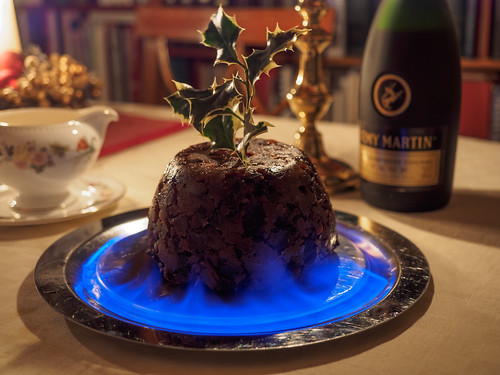 Flaming pudding | by James E. Petts
