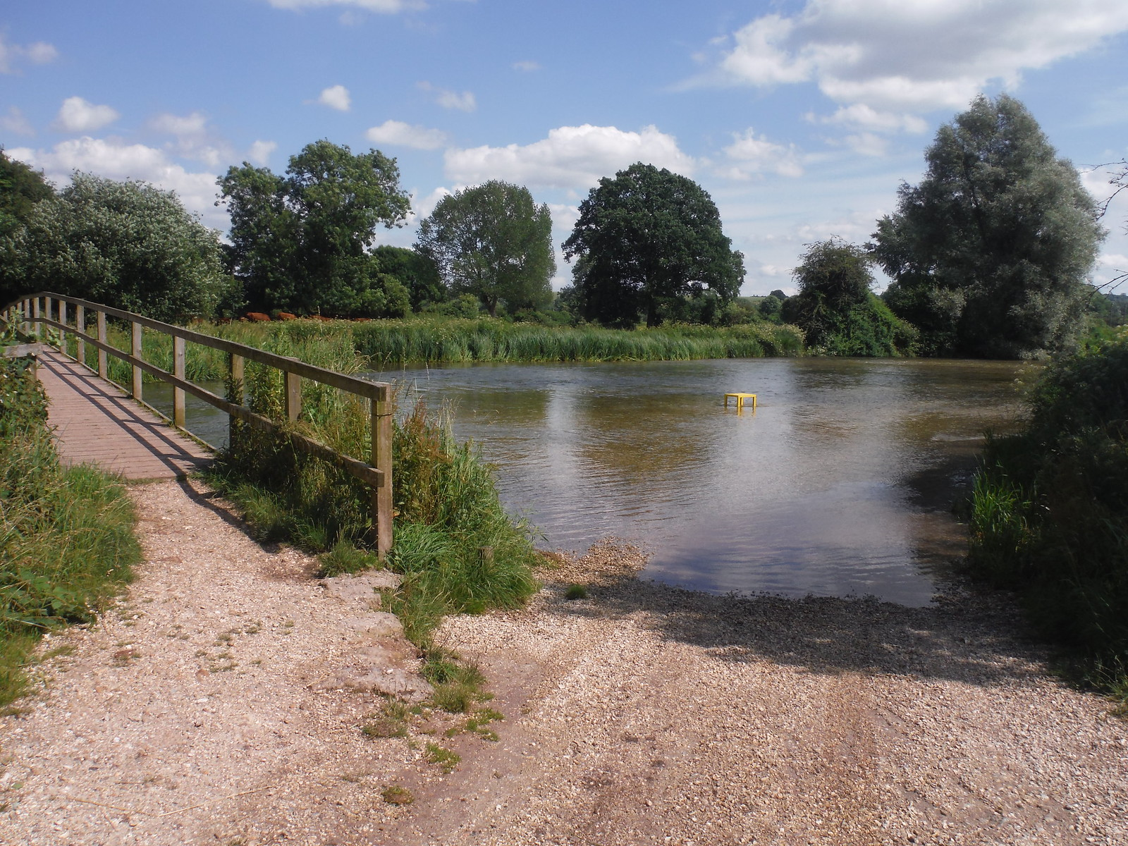 Swimming Spot by River Test Bridge, Houghton SWC Walk 265 - Dean to Mottisfont and Dunbridge
