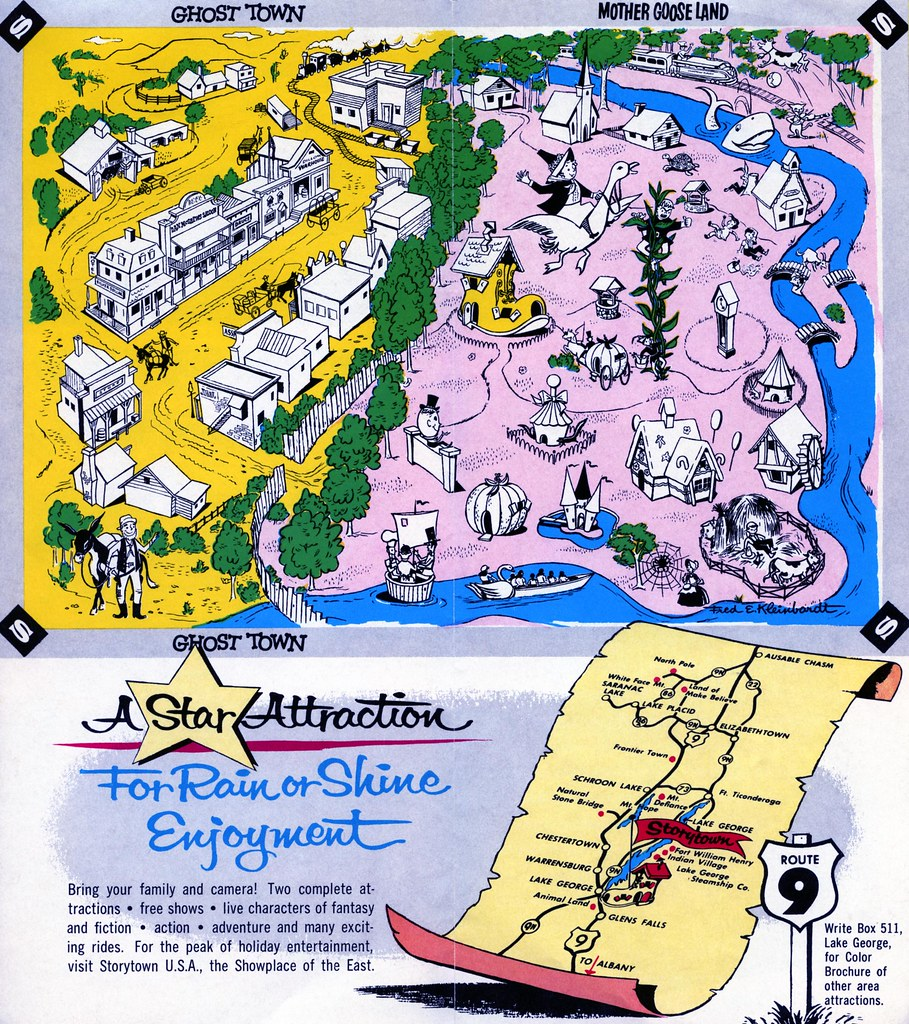 map lake george ny Storytown Map Lake George Ny Brochure William Bird Flickr map lake george ny