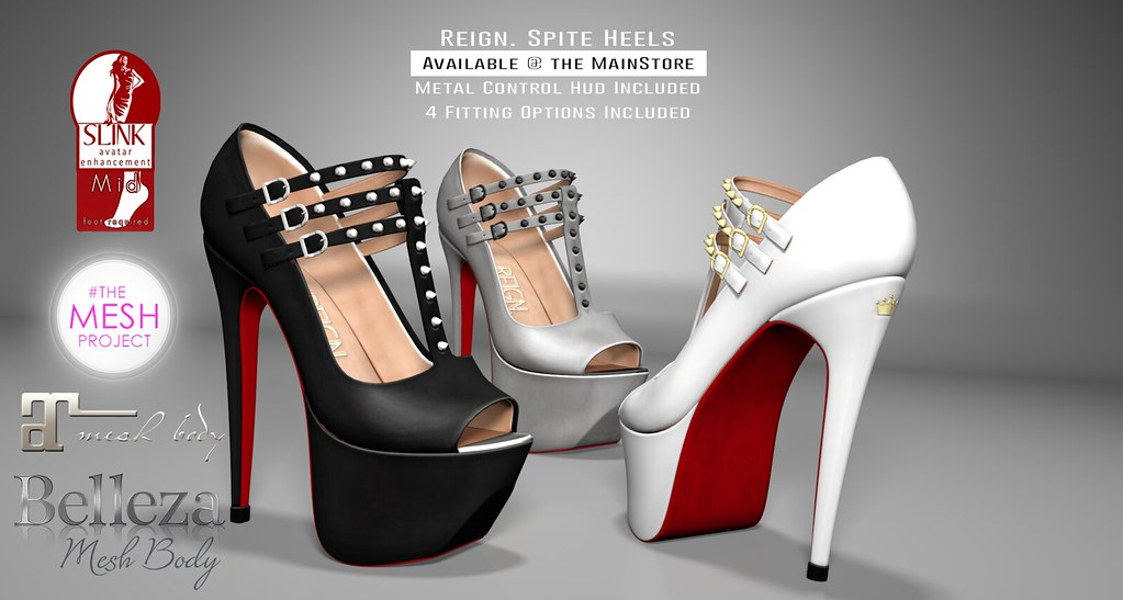 REIGN  SPITE HEELS | Now available in the mainstore!! Slink