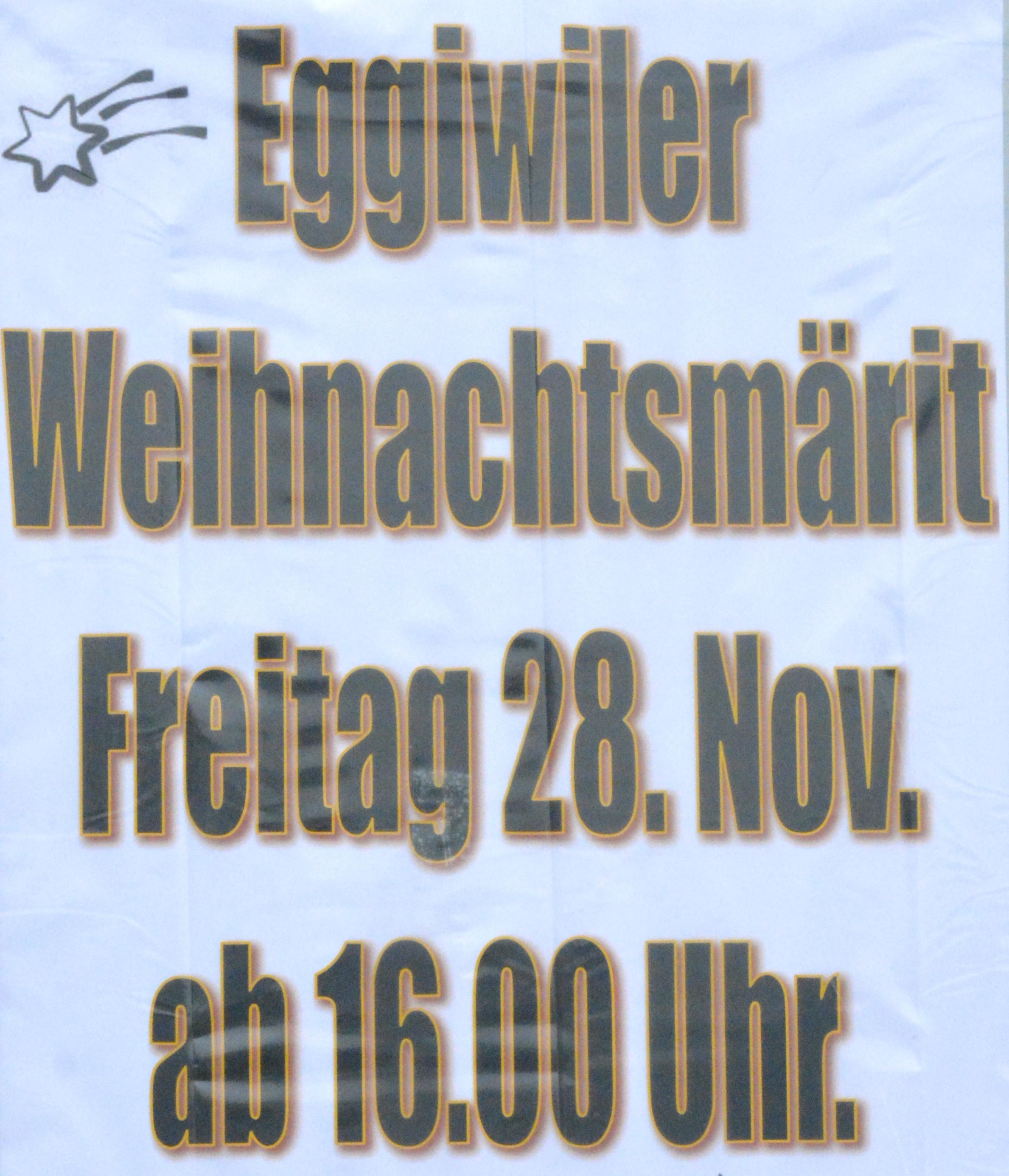 Verein - Weihnachtsmarkt Eggiwil 2014