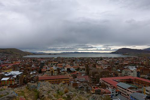 city autumn lake fall peru laketiticaca titicaca southamerica america highlands october south andes andean puno 2014 punocity fall2014 october2014 autumn2014