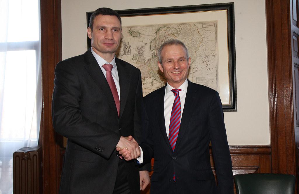 Vitali Klitschko | Former Minister for Europe David Lidingto