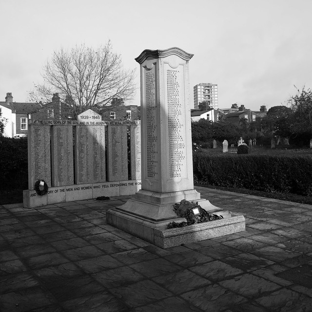 Relocated war memorial to those that worked for Lyons and lost their lives in First & Second World War