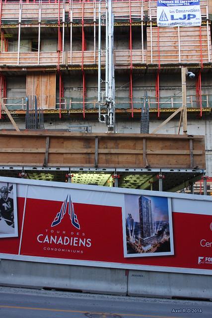 Tour des Canadiens en construction - Montréal