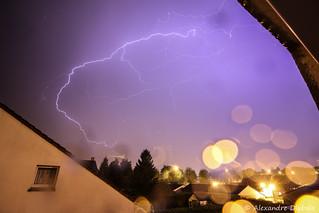 Finally a good thunderstorm at night