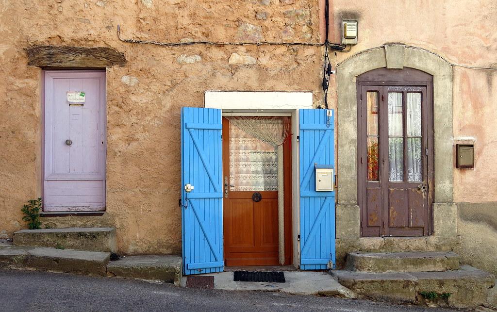 Three doors, Pontevès, Var, Provence, France