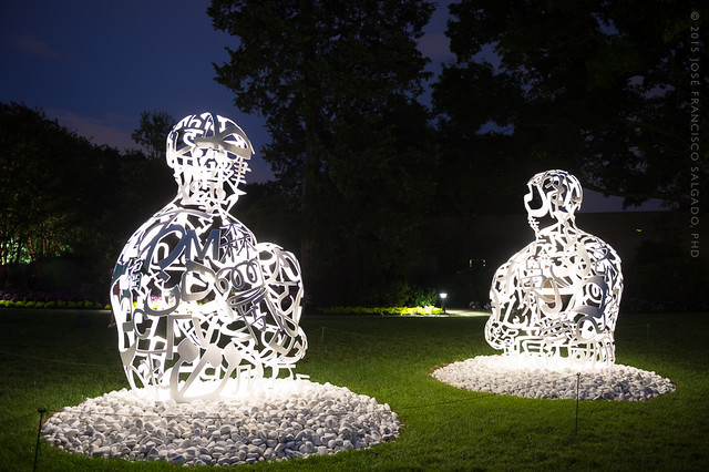 The Soul of Worlds I and II (2014) by Jaume Plensa