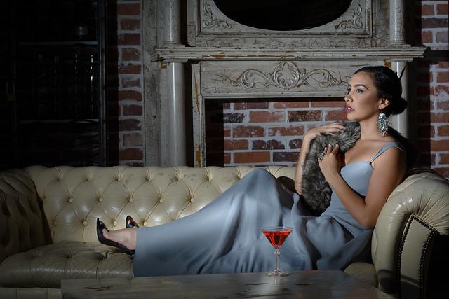 Model on sofa. Oct. 14th, 2015