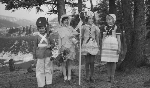 Beulah Godby and friends in costumes | by Provincial Archives of Alberta