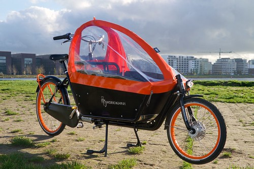 WorkCycles Kr8 Black Box Orange Rims 16