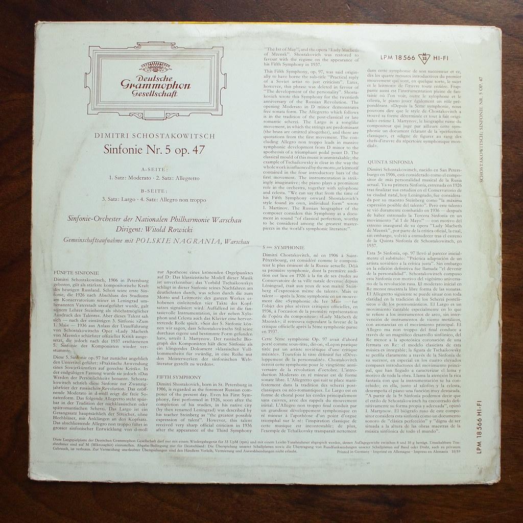 Backside Shostakovich - Symphony No 5 op 47 - Nat Phil  SO… | Flickr