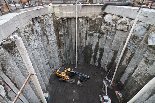 Looking inside the SR 99 tunnel access pit | by WSDOT