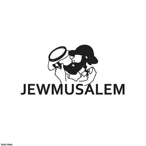 New Khartoon! JEWMUSALEM ... Make #love not #War one state solution #Jerusalem #Israel #Palestine #Jew #Islam, From CreativeCommonsPhoto