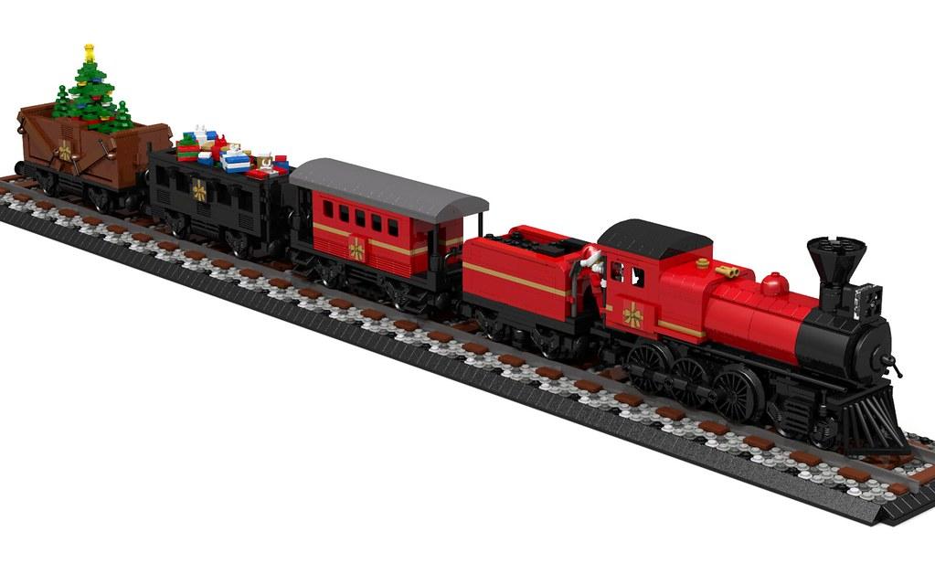 Lego Christmas Train.Lego Christmas Steam Train Mr Sanders Flickr