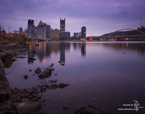 city longexposure building sunrise landscape pittsburgh cityscape pennsylvania bridges ohioriver canoneos60d tokina1116mmlens luminositymasks