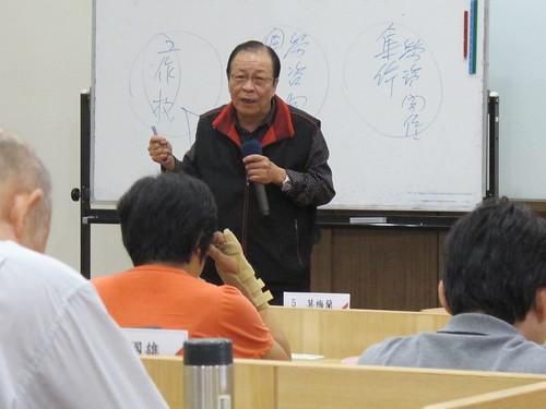 圖02中華民國全國職業總工會秘書長吳征陵說明工會組織作用與議事規範