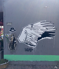 Bali street art - winged top hat