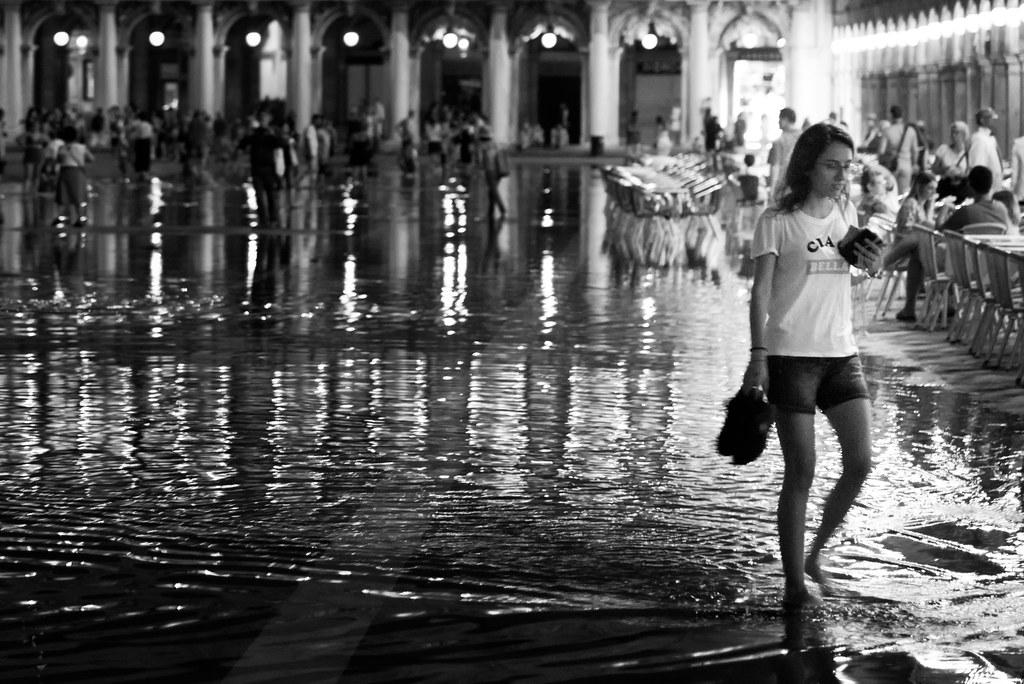 Wading through St. Mark's square.