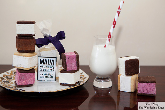 Mavli Marshmallows - Raspberry Hibiscus, Spiked Espresso, Vanilla Salted Caramel, 80% Chocolate, and Mint Chocolate