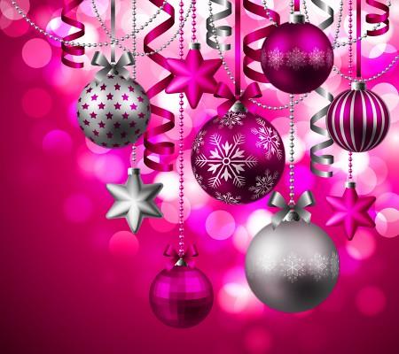 Pink Christmas Ornaments.Pink Christmas Ornaments Backgroundpretty In Pink Ornament
