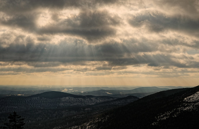 a view from bald mountain, weld, maine