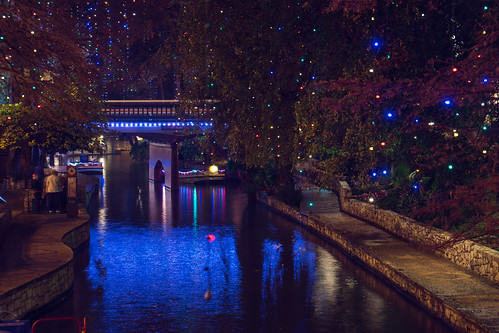 San Antonio Riverwalk at Night   by nan palmero