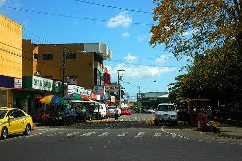street old travel vacation building tree tourism latinamerica ancient automobile commerce traffic visit tourist historic business tropic panama conception
