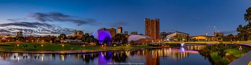 adelaide cityscape cityofadelaide clouds landscape longexposure panorama rivertorrens southaustralia sunrise topaz torrensriver water reflections australia