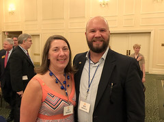 Mike and Jennifer Wienold attended the DG Induction Banquet.