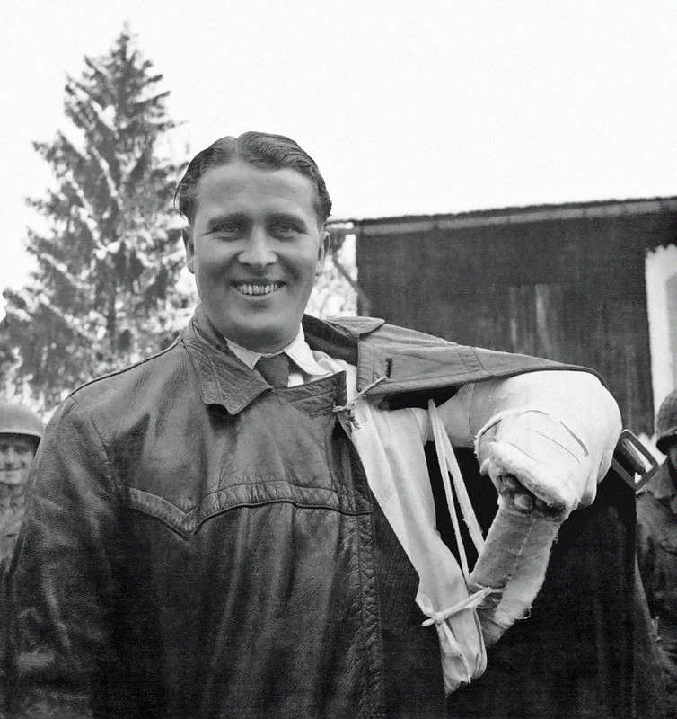 """Wernher von Braun:  """" V-2 inventor caught in Austrian Alps"""", ( Very rare photo )         May 2, 1945"""