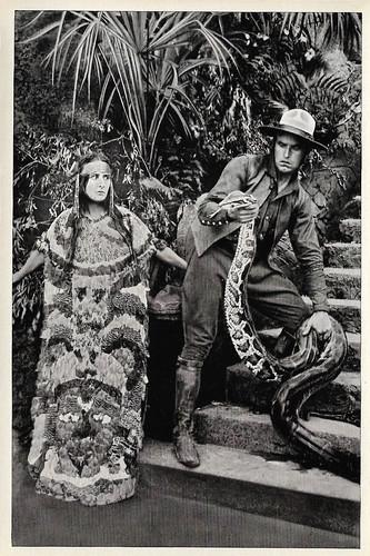 Lil Dagover and Carl de Vogt in Die Spinnen (1919)
