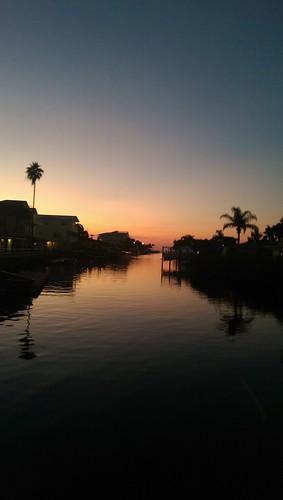 sunset lake water silhouette reflections dock palmtrees pascocounty hudsonflorida lisaquinta
