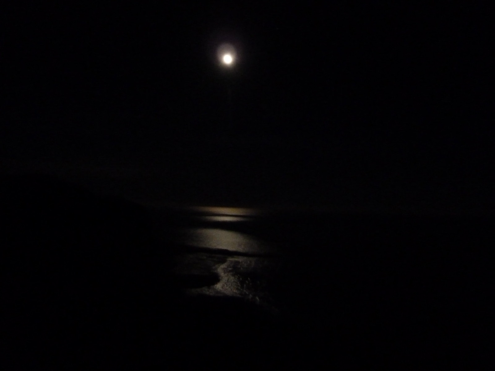 Berwick to Birling Gap Full moon over the sea, December.