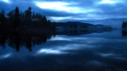 blue sunset lake canada bc britishcolumbia vancouverisland cobblehill millbay douganlake