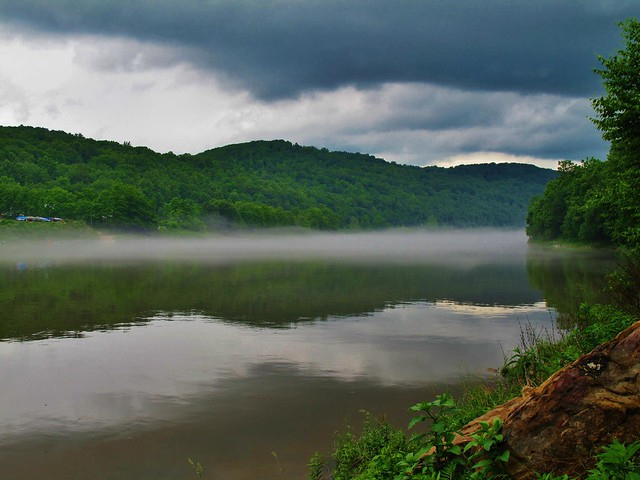 Fog Creeping up the Allegheny River, Armstrong County